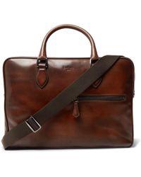 Berluti - Gloria Polished-leather Briefcase - Lyst