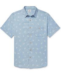 Faherty Brand - Pineapple-print Cotton Shirt - Lyst