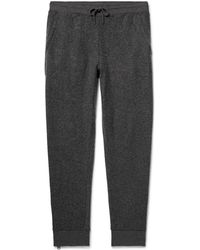 Club Monaco - Brushed Cotton-blend Drawstring Sweatpants - Lyst
