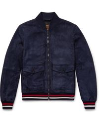 Tod's - Suede Bomber Jacket - Lyst