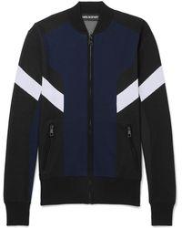 Neil Barrett - Slim-fit Colour-block Stretch-knit Track Jacket - Lyst