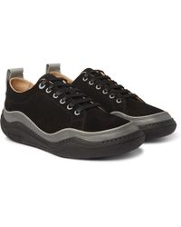 Panelled Nubuck And Leather Sneakers Lanvin Discount With Credit Card V9GhSNiA