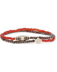 Luis Morais - Hematite, Gold And Diamond Wrap Bracelet - Lyst