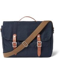 J.Crew | Harwick Leather-trimmed Canvas Messenger Bag | Lyst