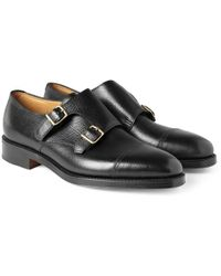 John Lobb - William Leather Monk-strap Shoes - Lyst