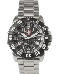 Luminox - Colourmark 3182 Stainless Steel Chronograph Watch - Lyst