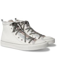 Lanvin - High Top Canvas And Velvet Trainers - Lyst