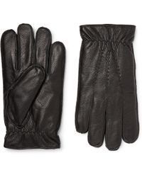Dents - Faux Fur-lined Leather Gloves - Lyst
