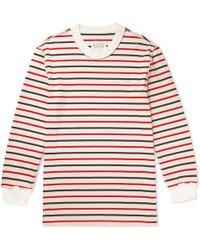 Maison Margiela - Oversized Striped Cotton-jersey T-shirt - Lyst