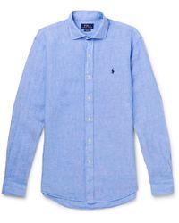 Polo Ralph Lauren - Mélange Linen Shirt - Lyst