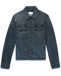 Rag & Bone - Definitive Indigo-washed Denim Trucker Jacket - Lyst