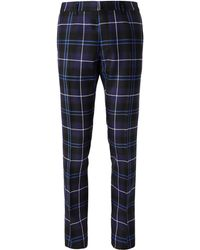 Versace - Slim-fit Checked Wool Trousers - Lyst