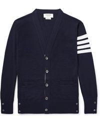 Thom Browne - Striped Wool Cardigan - Lyst