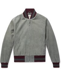 Golden Bear - The Haus Suede Bomber Jacket - Lyst