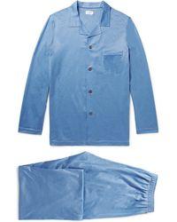 Derek Rose - Bari Pin-dot Cotton Pyjama Set - Lyst
