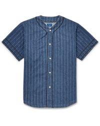 af4ff94cc70 Button-down Collar Cotton-chambray Shirt.  155. MR PORTER · Beams Plus -  Striped Denim Shirt - Lyst