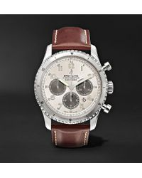 Breitling - Navitimer 8 B01 Chronograph 43mm Stainless Steel And Leather Watch - Lyst