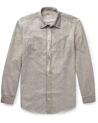 Massimo Alba - Sahara Watercolour-dyed Cotton-drill Shirt - Lyst