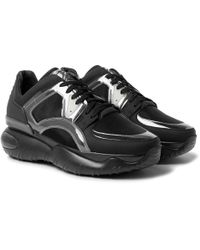 Fendi - Mesh, Leather, Pvc And Rubber Sneakers - Lyst