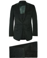 Thom Sweeney - Green Slim-fit Cotton And Cashmere-blend Corduroy Three-piece Suit - Lyst