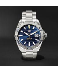 Tag Heuer - Aquaracer Automatic 43mm Steel Watch - Lyst