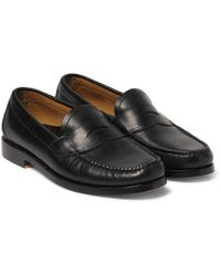 G.H. Bass & Co. - Logan Leather Penny Loafers - Lyst