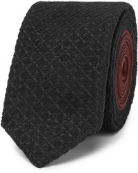 Prada - 5.5cm Textured-jacquard And Silk Tie - Lyst