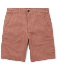 Oliver Spencer - Judo Wide-leg Linen Shorts - Lyst