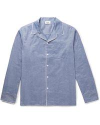 Sleepy Jones   Henry Mercerised Cotton Pyjama Shirt   Lyst