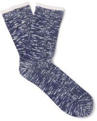 Mr Gray - Marled Cotton-blend Socks - Lyst
