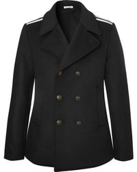 Tomas Maier - Double-breasted Grosgrain-trimmed Wool-blend Coat - Lyst