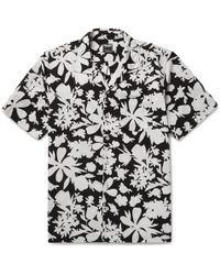 Todd Snyder - Camp-collar Floral-print Cotton Shirt - Lyst