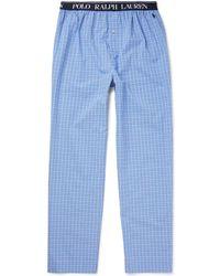 Polo Ralph Lauren - Checked Cotton-poplin Pyjama Trousers - Lyst