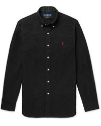 Polo Ralph Lauren - Slim-fit Button-down Collar Brushed-cotton Shirt - Lyst