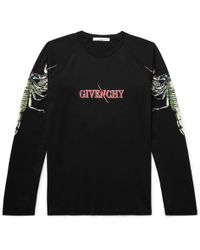 Givenchy - Printed Cotton-jersey T-shirt - Lyst