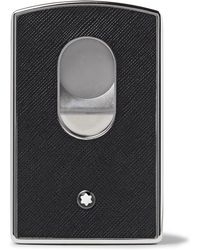 Montblanc - Sartorial Cross-grain Leather And Silver-tone Card Case - Lyst