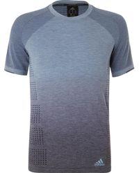 adidas Originals - Perforated Dégradé Primeknit T-shirt - Lyst