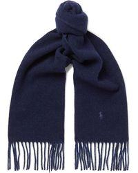 Polo Ralph Lauren - Fringed Wool-blend Scarf - Lyst