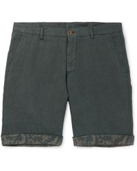 Etro - Tapered Linen Bermuda Shorts - Lyst