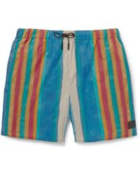 Acne Studios - Perry Mid-length Striped Swim Shorts - Lyst