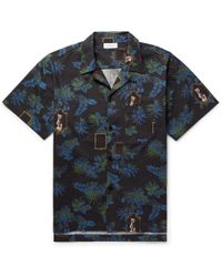 John Elliott - Camp-collar Printed Cotton-poplin Shirt - Lyst