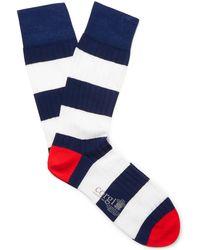 Corgi - Striped Ribbed Cotton-blend Socks - Lyst