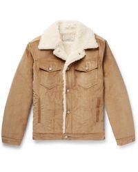 Maison Kitsuné - Faux Shearling-lined Cotton-corduroy Jacket - Lyst