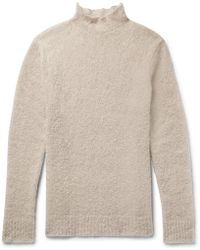 Simon Miller | Oversized Mohair And Silk-blend Bouclé Rollneck Sweater | Lyst