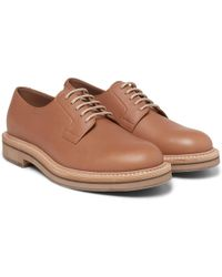 Brunello Cucinelli - Leather Derby Shoes - Lyst