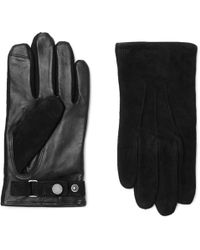 Polo Ralph Lauren - Suede And Leather Gloves - Lyst