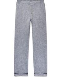 Sleepy Jones - Marcel Slub Linen Pyjama Trousers - Lyst