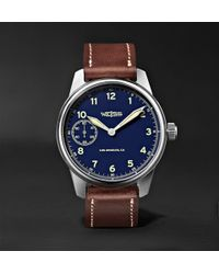 Weiss - Limited Edition American Issue 42mm Stainless Steel And Leather Field Watch - Lyst