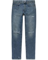 Givenchy - Rico Slim-fit Distressed Denim Jeans - Lyst