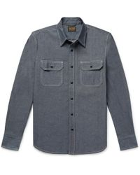 Jean Shop - Kevin Selvedge Cotton-chambray Shirt - Lyst